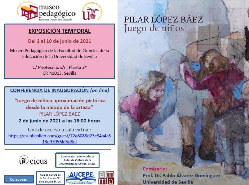 cartel anunciador exposición virtual Juegos de niños